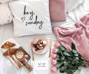 pink, coffee, and flowers image