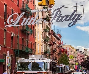 new york, little italy, and places image