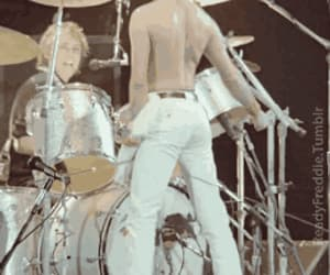 band, roger taylor, and Freddie Mercury image