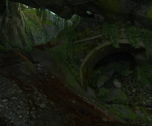buried, moss, and muddy image