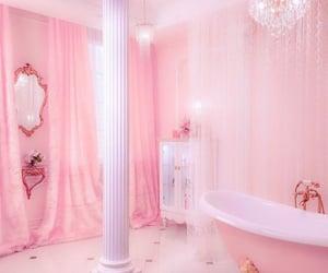 pink, aesthetic, and bathroom image