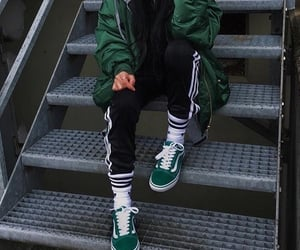 green, fashion, and vans image