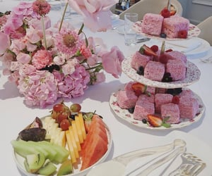brunch, cakes, and flowers image