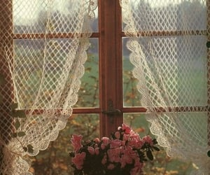flowers and window image