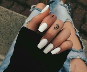 hands, nails, and moon image