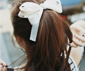 girl, hairstyle, and white image