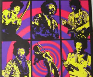 60s, hippie, and Jimi Hendrix image
