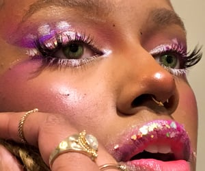abstract, lashes, and septum image