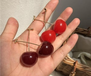cherry, icon, and red image