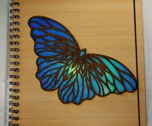 butterfly, handmade, and sketchbook image