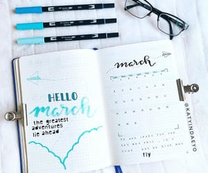 march, bujoinspiration, and bujoideas image
