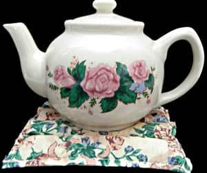etsy, vintage teapot, and vintage home image