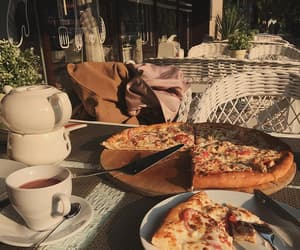 pizza, food, and coffee image