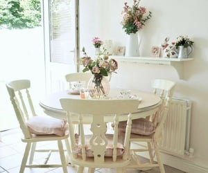 decor, flower, and white home image