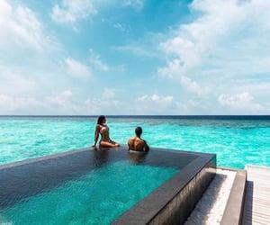 beautiful, blue, and couple image