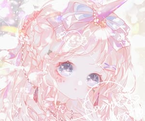 anime girl, pink, and kawaii image