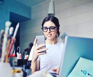 laptop, phone, and boss babe image