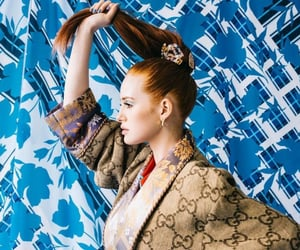 fashion, redhead, and make-up image