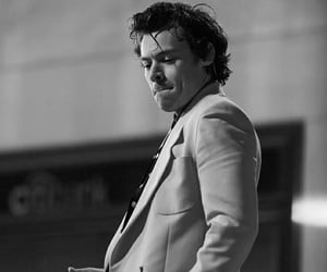 alternative, b&w, and Harry Styles image