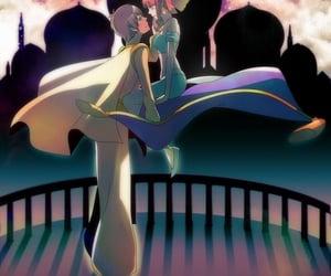 anime, arabian nights, and couple image