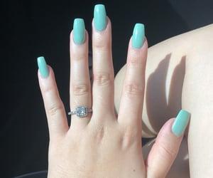 acrylics, nails, and mint nails image