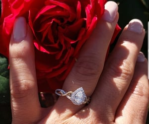 diamond, engagement, and rose image