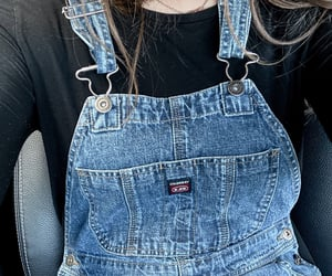 clothes, overalls, and thrift image