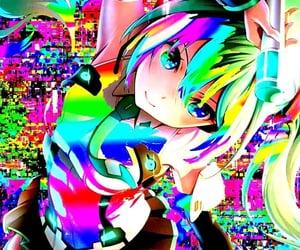 aesthetic, glitch, and miku image