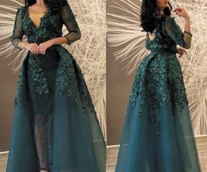 3d flowers, vestido de festa de longo, and robe de soirée image