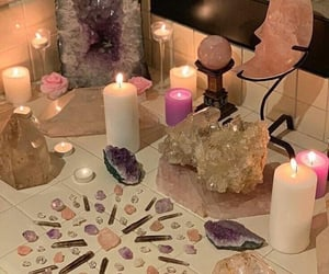 crystal, aesthetic, and candles image