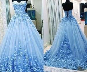 wedding dress, prom ball gown, and vestido de festa image