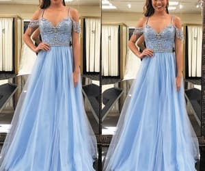 blue prom dress, vestido de longo, and vestido de festa de longo image