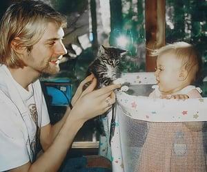 kurt cobain, nirvana, and baby image