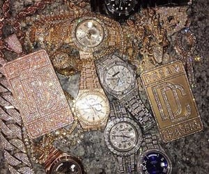 chains, rap, and watches image