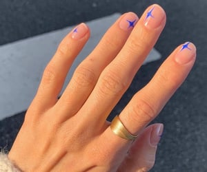 nails, manicure, and stars image