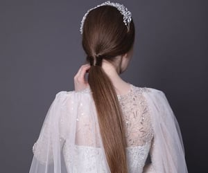 bride, fairytale, and style image