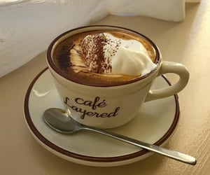 cappuccino, coffee, and creamy image
