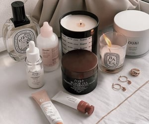 aesthetic, candle, and skincare image