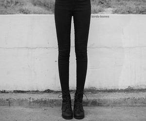skinny, black, and legs image