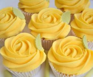 bakery, cupcakes, and yellow image