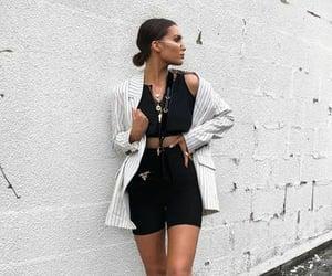 black, fashion, and clothing image