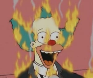 cartoon, Krusty, and the simpsons image
