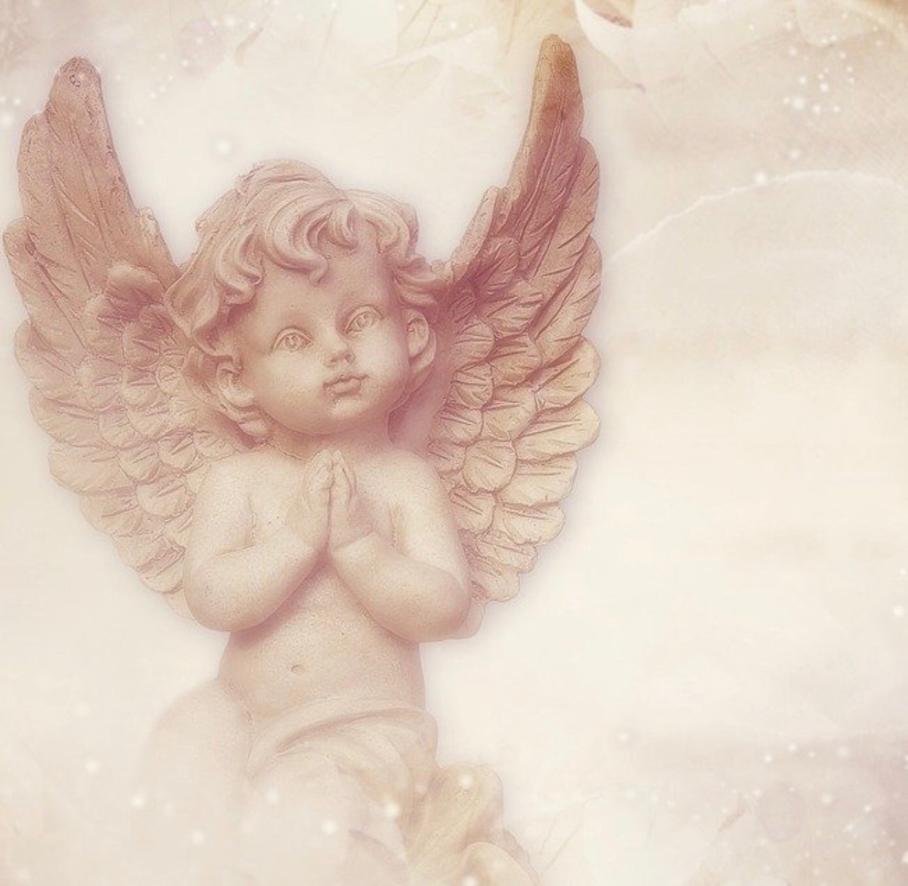angel, praying, and vintage image