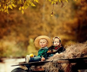 autumn, kids, and nature image