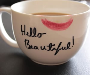 beautiful, cup, and lips image