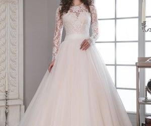 bride, gown, and wedding image