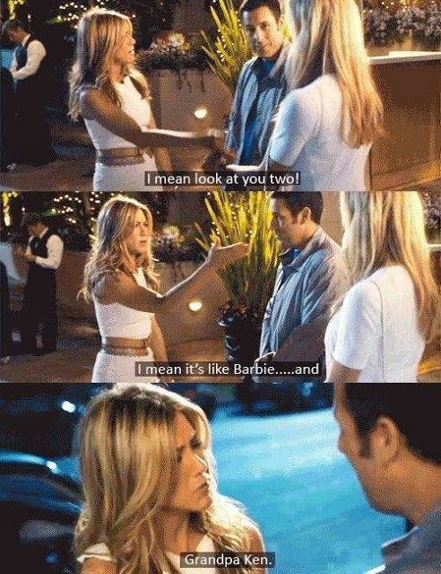 adam sandler, just go with it, and Jennifer Aniston image