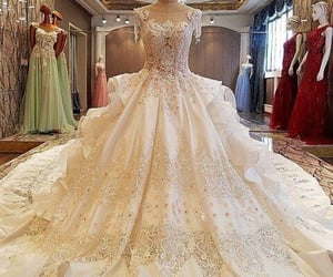 ball gown, bridal, and fashion image