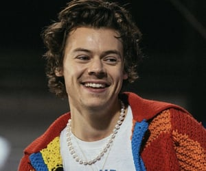 Harry Styles and smile image