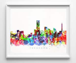 living room decor, poster, and watercolor painting image
